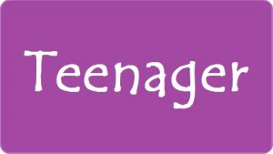 Teenager download button